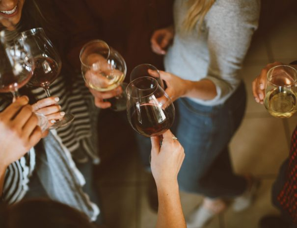 Vancouver wine tours - vineyard glass group